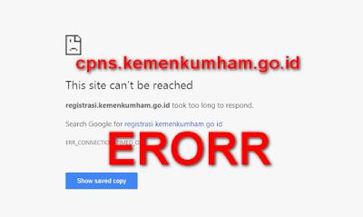 website cpns kemenkumham tidak bisa dibuka