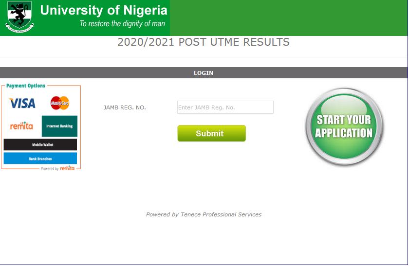 UNN Post-UTME Screening Result 2020/2021 | Check Scores Online