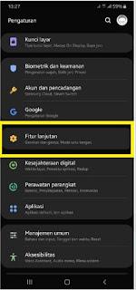 Mengaktifkan Buka Layar dengan ketuk Hp Samsung
