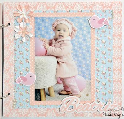 livro de mensagens album de lembranças assinaturas recordação memórias aniversário 1 aninho festa personalizada passarinhos passarinho jardim encantado floral azul rosa delicado menina scrap scrapbook scrapbooking