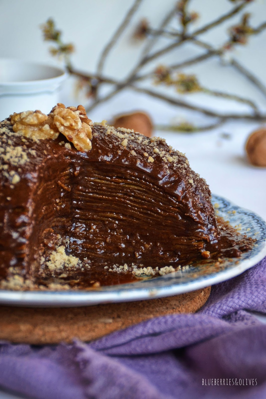 MOCHA AND WALNUT CRÊPE CAKE