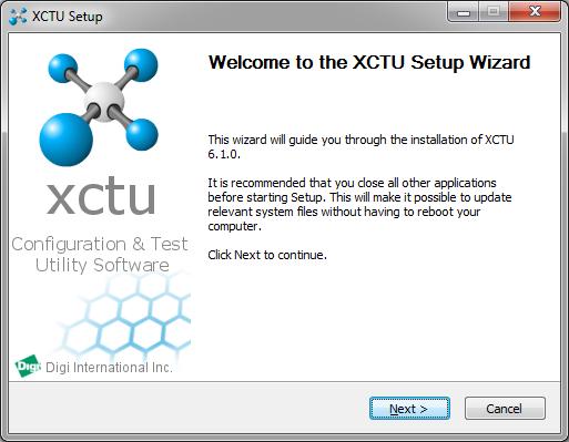 XCTU Instalacao - Tela Inicial