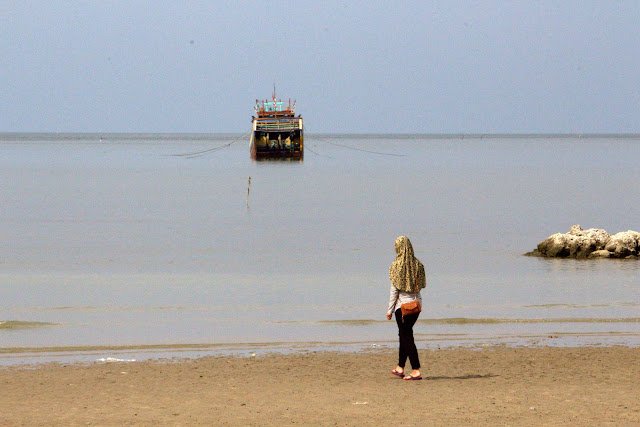 Woman On Kartini Beach, Rembang, Central Java