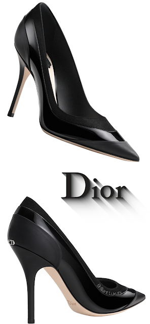 Black Leather Mix Dior Pumps #brilliantluxury