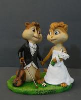 cake topper cartoni fumetti serie tv film animazione stattuette sposi personaggio disegnato orme magiche