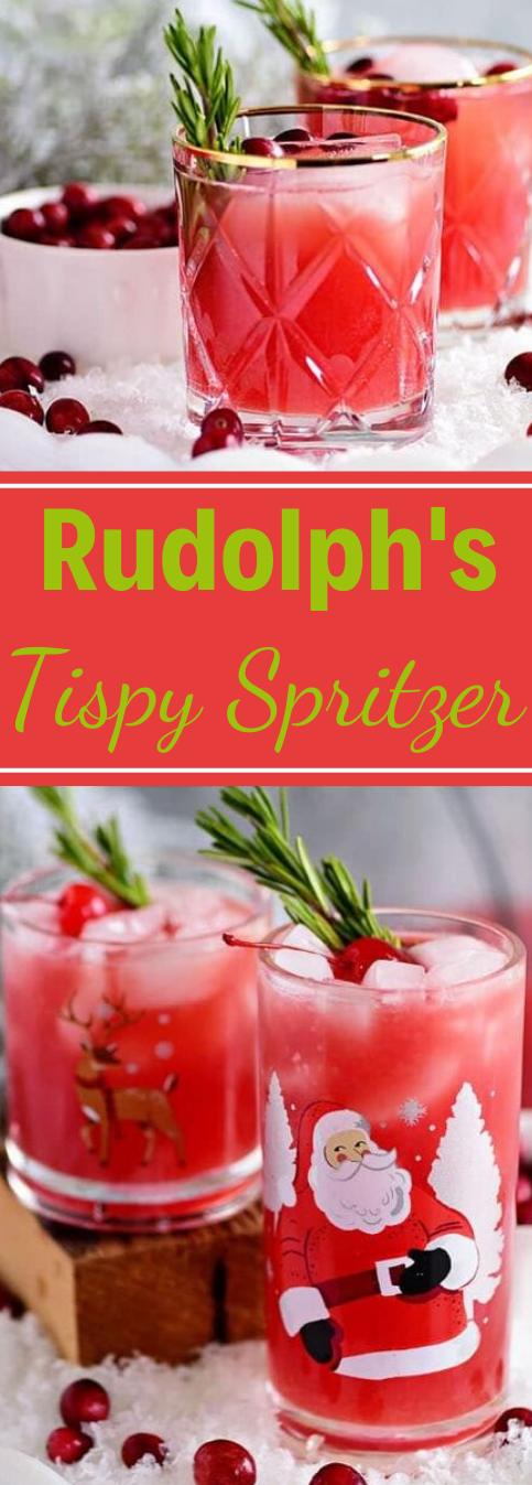 RUDOLPH'S TIPSY SPRITZER #drink #milk #latte #sangria #cocktail