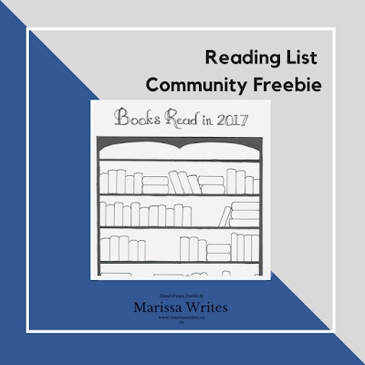 Reading List Community Freebie - Book shelf reading tracker for 2017