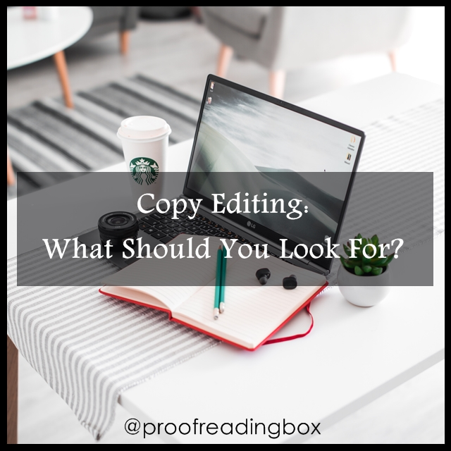 Copy Editing: What Should You Look For? ~ Proofreading Box