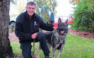 Paul with dog Charlie before hes off to Bedfordshire force