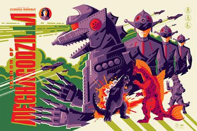 Godzilla Screen Print by Tom Whalen x Mondo