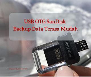 usb otg sandisk backup data terasa mudah