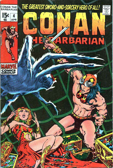 Conan the Barbarian v1 #4 marvel comic book cover art by Barry Windsor Smith