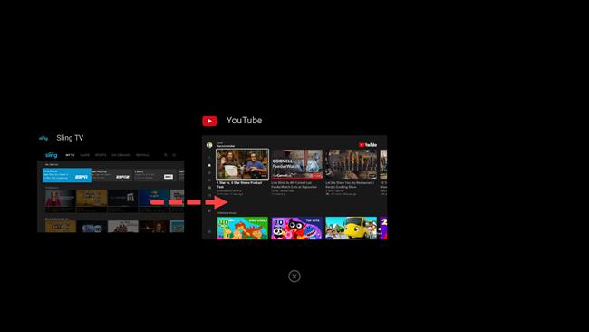 حدد تطبيق android tv من التطبيقات الحديثة