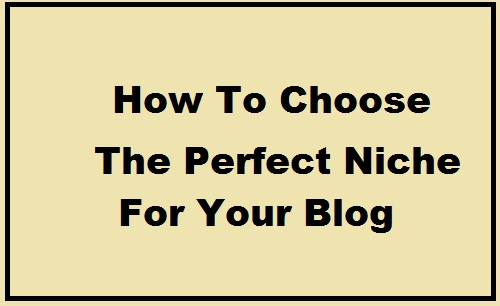 How To Choose The Perfect Niche For Your Blog, हाउ तो चूज परफेक्ट निचे ब्लॉग टॉपिक