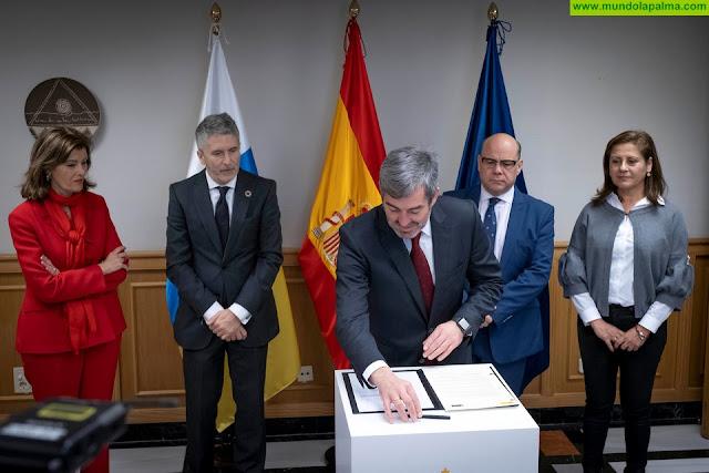 Gobierno de Canarias e Interior firman el convenio para el seguimiento integral de los casos de violencia de género