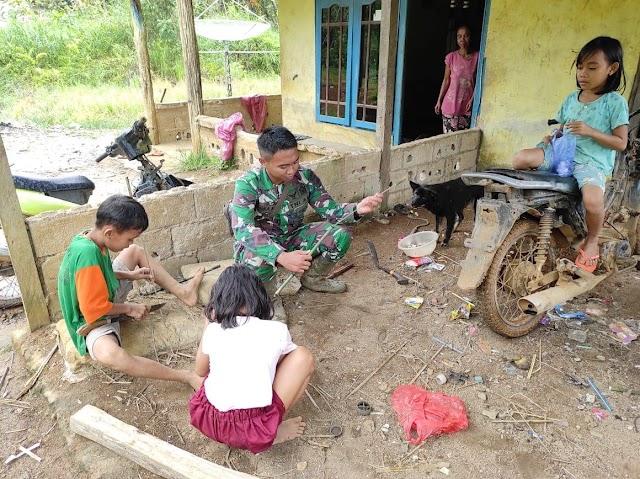 Satgas TMMD Regtas Ke 111 Kodim 1202/Skw Main Tembakan Pletokan Dari Bambu