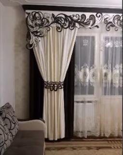 ستائر غرفة المعيشة - ستائر مودرن