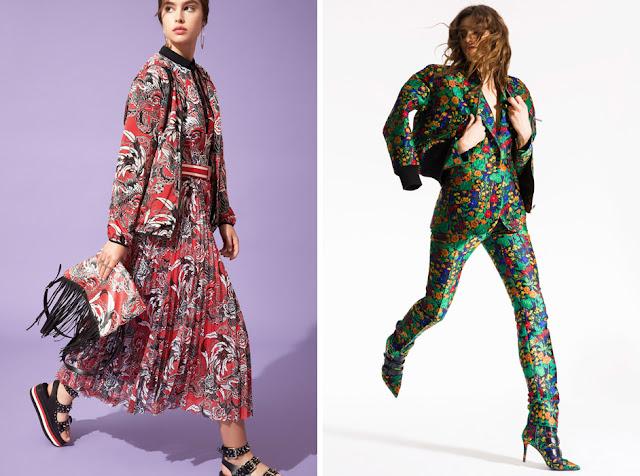 Топ, жакет и юбка с одинаковым принтом