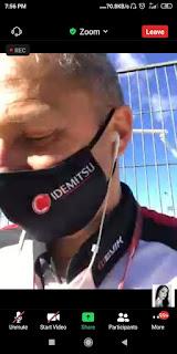 Fabio memandu paddock tour secara virtual