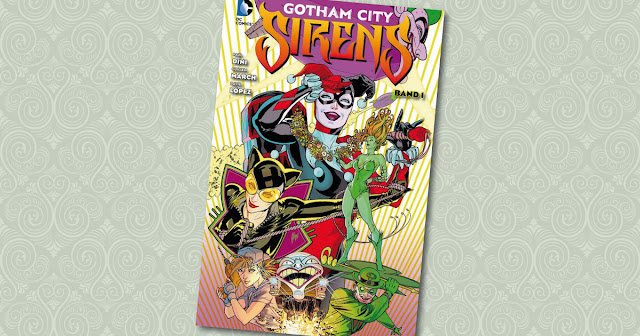 Gotham City Sirens Harley Quinn Catwoman Poison Ivy Panini cover