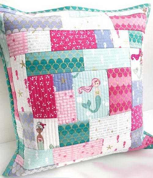 Patchwork Pillow Quilt Tutorial