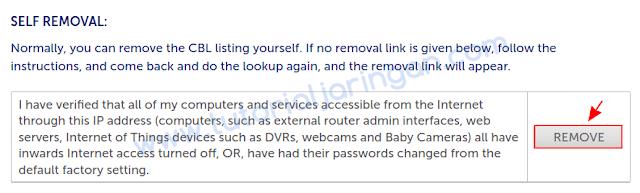 Tutorial Cara Delisting IP Public dari Spamhaus