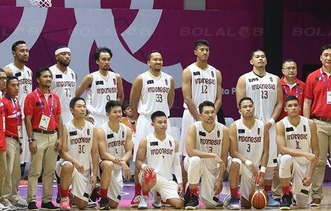 Timnas basket Indonesia pada kualifikasi FIBA Asia Cup.