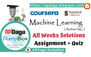 Coursera: Machine Learning - All weeks solutions [Assignment + Quiz] - Andrew NG