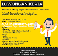 Karir Surabaya Terbaru di Kue Balok Haujek Oktober 2019