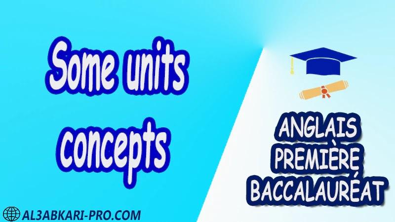 Some units concepts - Grammar Courses - Anglais Première baccalauréat PDF English 1 ère Bac première baccalauréat 1 er bac 1 ere