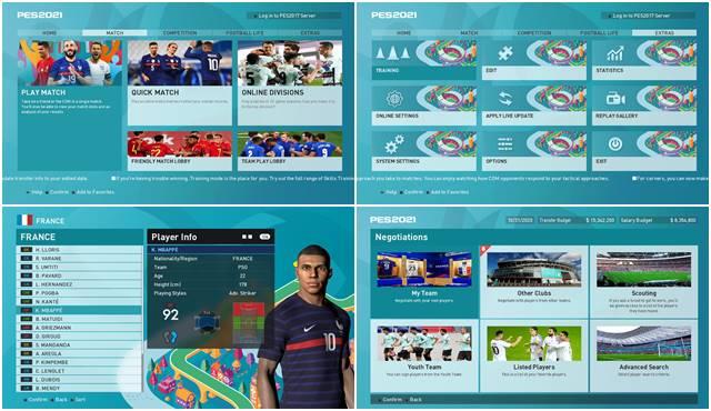 PES 2017 UEFA Euro 2020 Graphic Menu