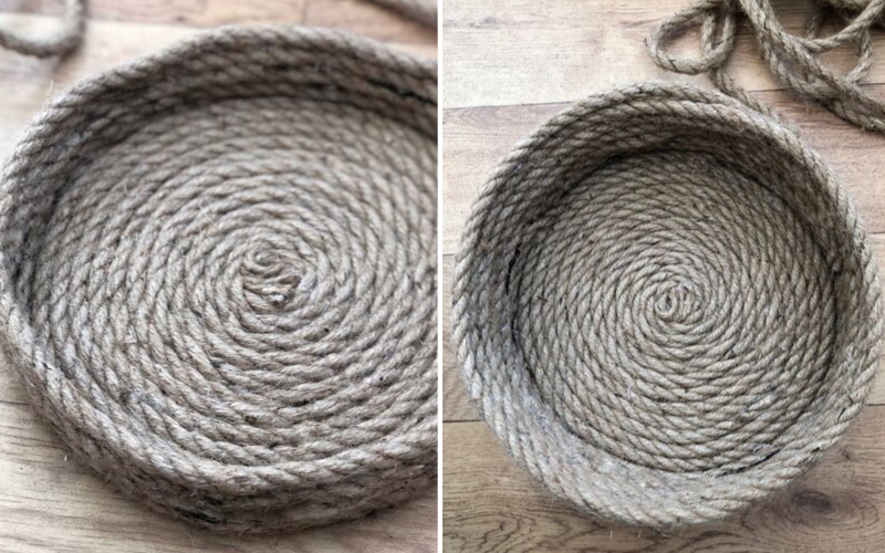 DIY storage basket made from rope. How to make a basket from rope in this simple and easy budget tutorial. DIY home decor.