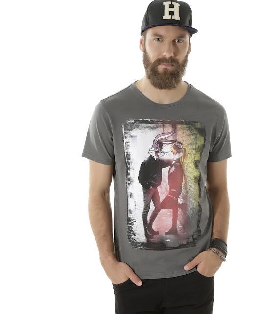 Moda: Camiseta pernalonga cinza