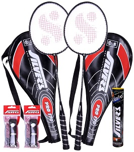 Silver's Pro-170 2 Racquets + 1 Box Shuttle Cock Marvel + 2 PVC Grips Badminton Racquet worth Rs.1015 for Rs.648 Only