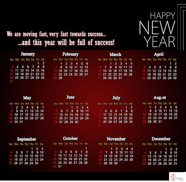 mẫu lịch năm mới