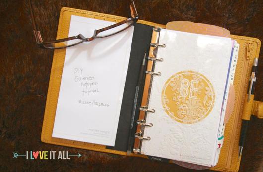 Filofax Friday Notepad Tutorial | iloveitallwithmonikawright.com