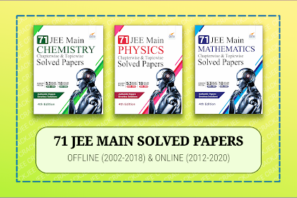 [PDF] Disha 71 JEE Main Chapterwise Previous Years Solved Papers | 2002 to 2020
