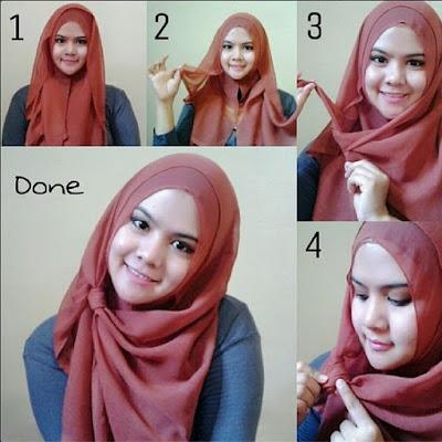Tutorial Hijab Pashmina Untuk Wajah Bulat Simple Tapi Elegan