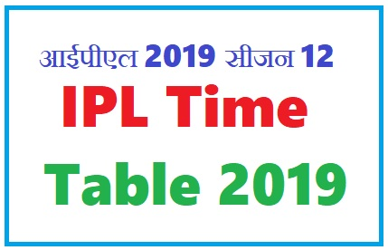 IPL 2019 schedule / March 23 will start from IPL 2019, schedule of first part; Early match between RCB-Chennai