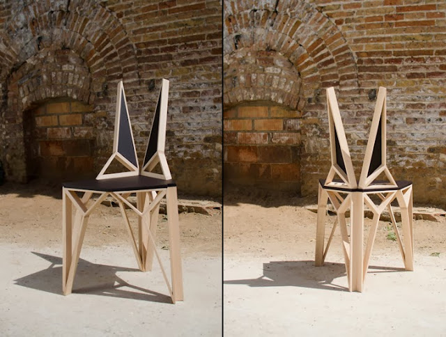 дневник дизайнера Современные стулья из дерева лучших  Стул из дерева sepii на десяти ножках может быть напомнил вам каракатицу Датская студия дизайна k to n studio совместно с yoho очень забавно