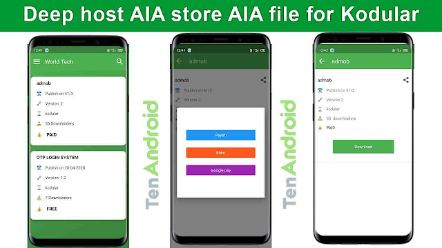 Deep host AIA store AIA file for Kodular Free Download