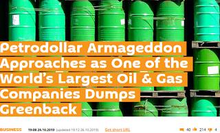 탈달러 : 페트로달러 아마겟돈 - 러시아 석유기업 로즈네프 모든 석유수출 계약 유로화로 결제