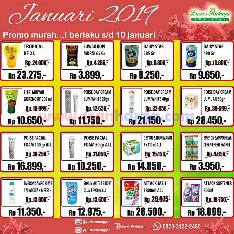 Katalog Promo Luwes Rahayu Swalayan Terbaru Januari 2019