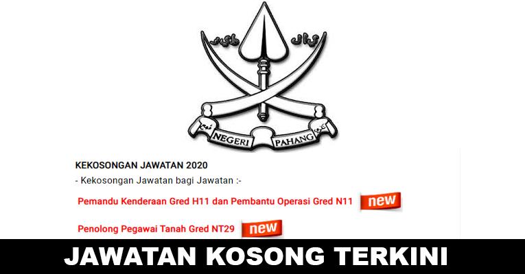 Kekosongan Terkini di Suruhanjaya Perkhidmatan Awam Negeri Pahang (SPANP)