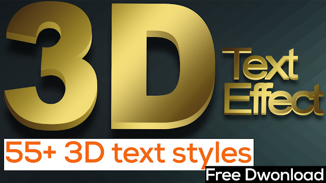 Best 55+ 3D Text Styles For Photoshop Download Free
