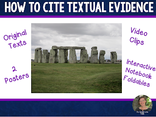 I use video clips (that I make myself!) to engage my students with content like citing textual evidence.
