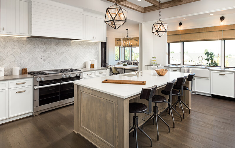 Using hardwood in the kitchen is not only a durable but also eco-friendly