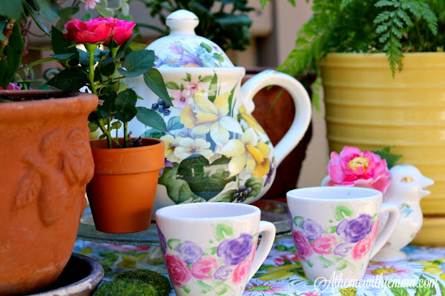decorating, tea, entertaining, ideas, Spring, hostess, homemaking