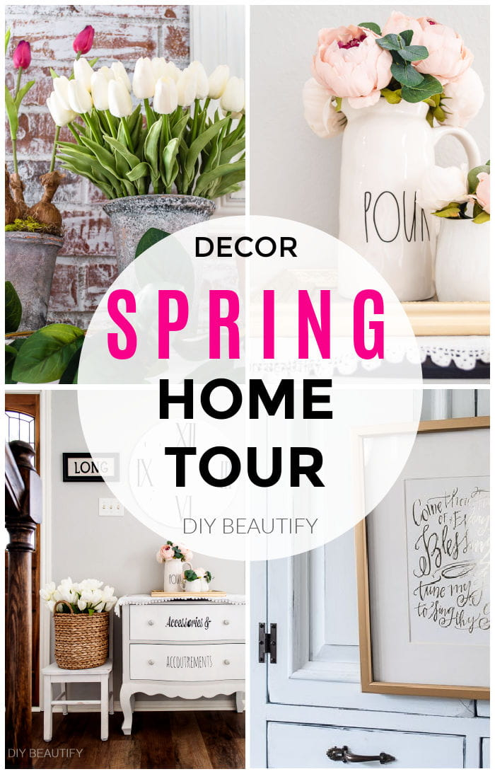 bright Spring home tour with flowers and greenery
