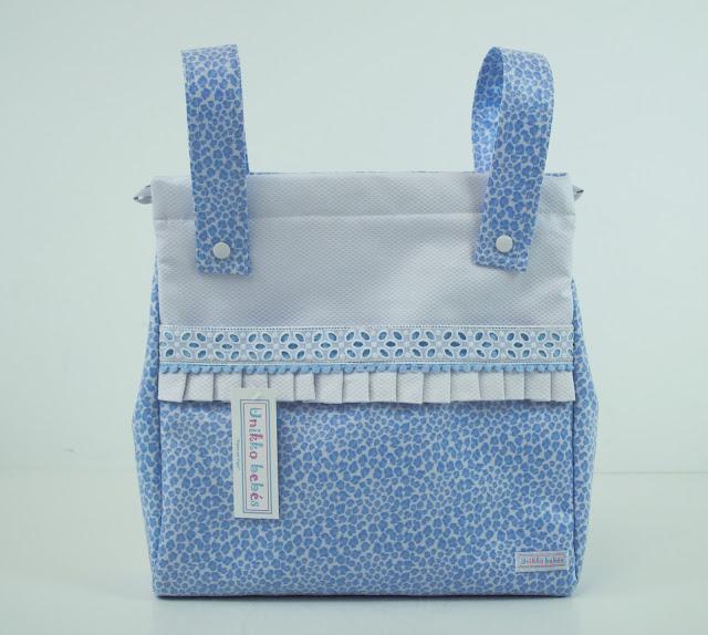 Bolsas para carrito print azul